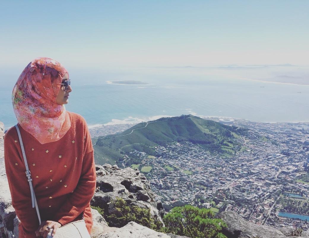 saajida akabor on table mountain, cape town 2016