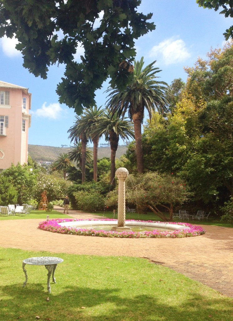 fountain at mount nelson